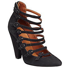Buy Somerset by Alice Temperley Alstone Strappy High Heeled Courts, Black Nubuck Online at johnlewis.com