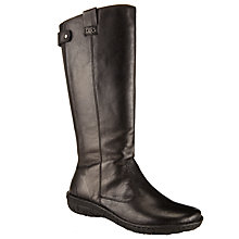 Buy John Lewis Designed for Comfort Rolo Long Leather Calf Boots, Black Online at johnlewis.com
