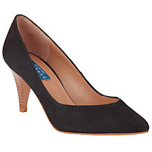 Buy Collection WEEKEND by John Lewis Annecy Nubuck Court Shoes, Black Online at johnlewis.com