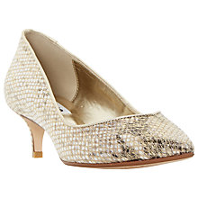 Buy Dune Allice Reptile Effect Leather Court Shoes Online at johnlewis.com