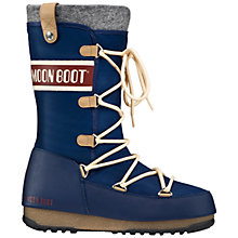 Buy Moon Boot W.E. Apres-Ski Monaco Felt Boots, Blue Online at johnlewis.com