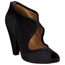 Buy Somerset by Alice Temperley Ashcott Open Shoe Boots, Black Nubuck Online at johnlewis.com