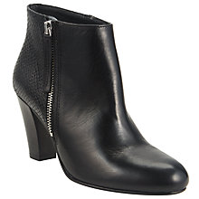 Buy John Lewis Pascale Leather Ankle Boot, Black Online at johnlewis.com