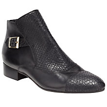 Buy Somerset by Alice Temperley Priston Leather Ankle Boot, Black Online at johnlewis.com