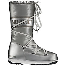 Buy Moon Boot W.E. Soft Long Snow Boots, Silver Online at johnlewis.com