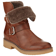 Buy Collection WEEKEND by John Lewis Poitiers Leather Faux Fur Ankle Boots, Brown Online at johnlewis.com