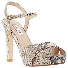 Buy Dune Marleen Platform Stiletto Sandals, Natural Online at johnlewis.com