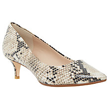 Buy Dune Annielou Pointed Court Shoes, Natural Leather Online at johnlewis.com