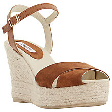 Buy Dune Koopa Suede Wedge Espadrille Sandals Online at johnlewis.com