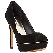 Buy Dune Daviner Peep Toe Platform Court Shoes Online at johnlewis.com