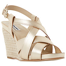 Buy Dune Kitt Leather Wedge Heeled Sandals Online at johnlewis.com