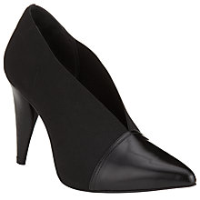 Buy Kin by John Lewis Anja Cut Away Ankle Boots, Black Online at johnlewis.com