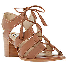 Buy Dune Ivanna Nubuck Lace Up Block Heel Sandals Online at johnlewis.com