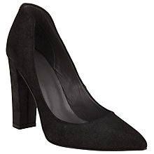 Buy Kin by John Lewis Agnis Block Heeled Court, Black Nubuck Online at johnlewis.com