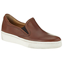 Buy Kin by John Lewis Edina Leather Slip On Trainers, Brown Online at johnlewis.com
