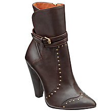 Buy Somerset by Alice Temperley Stud Detail Oake Ankle Boots, Brown Leather Online at johnlewis.com