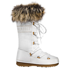Buy Moon Boot W.E. Monaco Felt Boots, White Online at johnlewis.com
