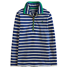 Buy Little Joule Boys' Dale Half Zip Jersey, Navy/White Online at johnlewis.com
