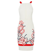 Buy Karen Millen Floral Ribbon Embroidery Dress, White Multi Online at johnlewis.com