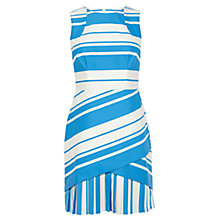 Buy Karen Millen Panelled Shift Dress, Blue Multi Online at johnlewis.com