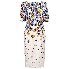Buy L.K. Bennett Devra Canvas Floral Printed Dress, Multi Online at johnlewis.com