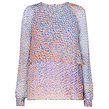 Buy L.K. Bennett Madison Animal Print Top, Multi Online at johnlewis.com