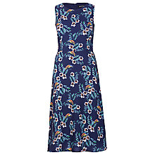 Buy Sugarhill Boutique Tropical Bird Midi Dress, Navy Online at johnlewis.com