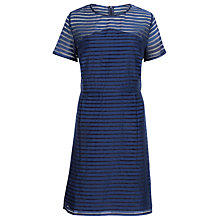 Buy Sugarhill Boutique Stripe Organza Dress, Navy Online at johnlewis.com