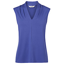 Buy L.K. Bennett Clare Sleeveless Pleat Detail Jersey Top Online at johnlewis.com