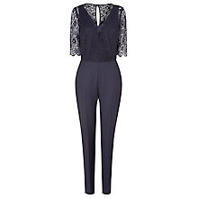 Buy L.K. Bennett Evra Lace Jumpsuit, Navy Online at johnlewis.com