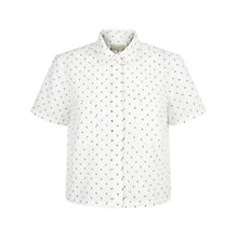 Buy Hobbs Monika Shirt, Ivory/Blue Online at johnlewis.com