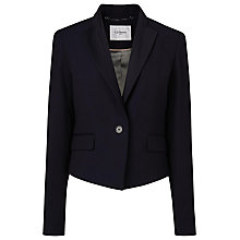 Buy L.K. Bennett Bostona Satin Back Crepe Jacket, Blue Online at johnlewis.com