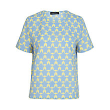Buy Sugarhill Boutique Geo Print T-shirt, Pastel Blue Online at johnlewis.com