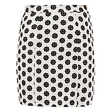 Buy Sugarhill Boutique Monochrome Flower Skirt, Cream/Black Online at johnlewis.com