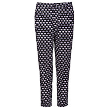 Buy Sugarhill Boutique Ellie Print Trousers, Black Online at johnlewis.com