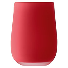 Buy LSA International Satin Cased Vase, Red Online at johnlewis.com