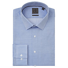 Buy CK Calvin Klein Bari Semi Plain Slim Fit Shirt, Azure Online at johnlewis.com