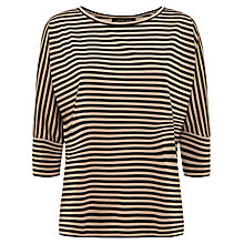 Buy Jaeger Batwing Breton Top, Black / Stone Online at johnlewis.com