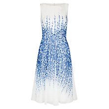 Buy Hobbs Trailing Delphinium Floral Silk Dress, Ivory/Blue Online at johnlewis.com