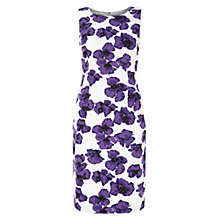 Buy Hobbs Poppy Print Dress, Ivory/Violet Online at johnlewis.com