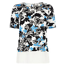 Buy Oasis Shadow Print Top, Multi Online at johnlewis.com