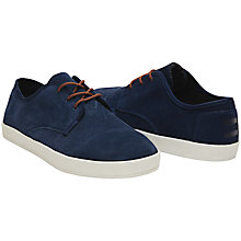 Buy TOMS Paseo Lace Up Suede Plimsolls, Navy Online at johnlewis.com