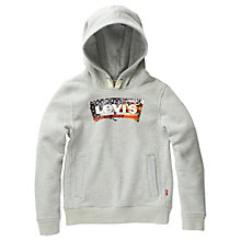 Buy Levi Flag Logo Hoodie, Grey Online at johnlewis.com