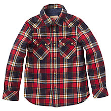 Buy Levi's Boys' Sawche Western Check Shirt, Red/Navy Online at johnlewis.com