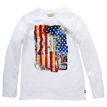 Buy Levi's Boys' Diego USA Flag Long Sleeve T-Shirt Online at johnlewis.com