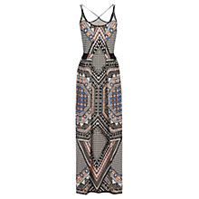 Buy Warehouse Tribal Placement Print Maxi Dress, Multi Online at johnlewis.com