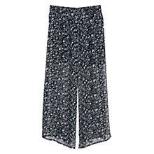 Buy Mango Printed Palazzo Trousers, Black Online at johnlewis.com