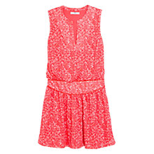 Buy Mango Printed Dress, Bright Red Online at johnlewis.com
