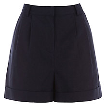 Buy Warehouse High Waist Shorts, Navy Online at johnlewis.com