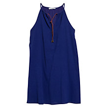 Buy Mango Cord Texture Dress, Bright Blue Online at johnlewis.com